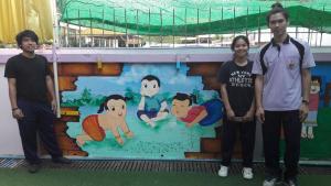 วาดภาพกำแพงโรงเรียน 190121 0010