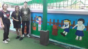 วาดภาพกำแพงโรงเรียน 190121 0016