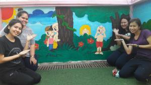 วาดภาพกำแพงโรงเรียน 190121 0027