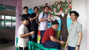 วาดภาพกำแพงโรงเรียน 190121 0032