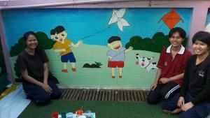 วาดภาพกำแพงโรงเรียน 190121 0034