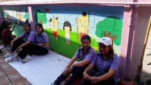 วาดภาพกำแพงโรงเรียน 190121 0045