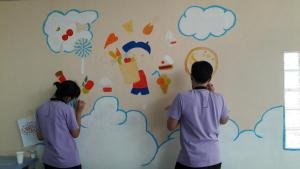 วาดภาพกำแพงโรงเรียน 190121 0058
