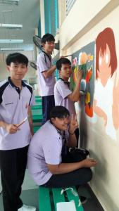วาดภาพกำแพงโรงเรียน 190121 0060