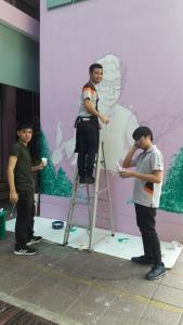 วาดภาพกำแพงโรงเรียน 190121 0061