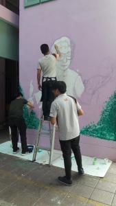วาดภาพกำแพงโรงเรียน 190121 0063
