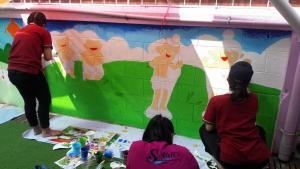 วาดภาพกำแพงโรงเรียน 190121 0068