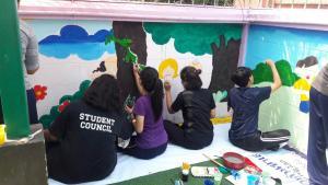 วาดภาพกำแพงโรงเรียน 190121 0073