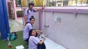 วาดภาพกำแพงโรงเรียน 190121 0097